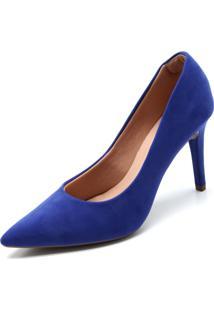 Scarpin Fiveblu Suede Azul