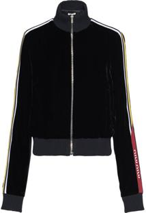 Miu Miu Technical Velvet Zipped Jacket - Preto