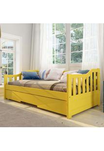Cama Infantil Bicama American Em Madeira Maciça 1001 Amarelo - Arbol Movelaria