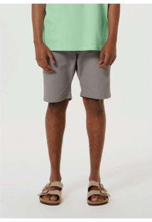 Bermuda Masculina Em Tecido Rústico Cinza