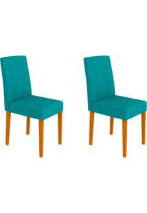 Conjunto Com 2 Cadeiras Heloíse Ipê E Turquesa