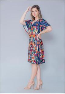 Vestido Imagivan Curto Feminino - Feminino-Azul