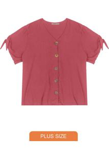 Camisa Feminina Plus Size Vermelho