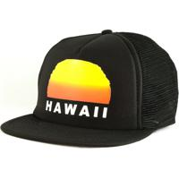 Boné Blanks Co Snap Back Sunset Hawaii Aba Reta - Masculino-Preto a28ba042bae
