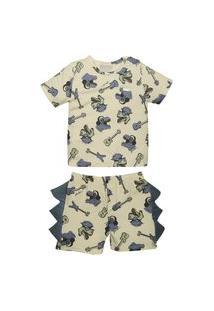 Conjunto Pijama Curto Rock Grow Up Multicolorido