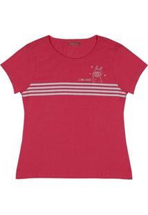 Camiseta Feminina Manga Curta Ovelhinha - Feminino-Rosa