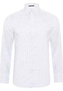 Camisa Masculina Listrada Urban - Branco