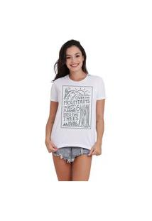 Camiseta Jay Jay Basica Over The Montains Branca Dtg