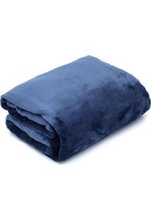 Cobertor Casal Camesa Velour Microfibra Neo Marinho