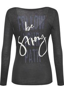 Camiseta Feminina Linho Silk Debora - Cinza