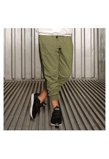 Calça Juvenil Dway Com Faixa Lateral Verde D'Way Casual Verde