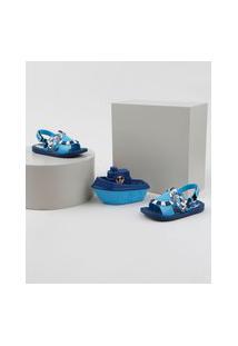 Sandália Infantil Mickey Grendene + Barco Azul