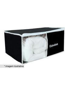 Organizador De Edredons- Preto & Branco- 28X61X46Cm