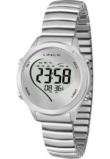 Relógio Feminino Lince Digital Sdph062L Bssx - Unissex-Prata