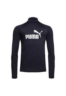 Camisa Térmica Puma Uv50+ Manga Longa Masculina - Preto