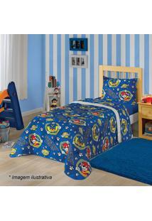 Edredom Dupla Face Patrulha Canina®- Azul & Amarelo-Lepper