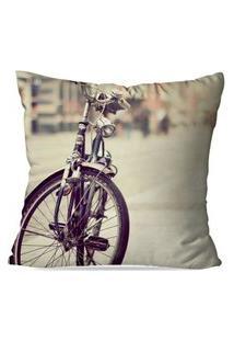 Capa De Almofada Avulsa Decorativa Bike Color 35X35Cm