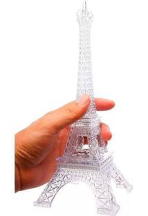 Enfeite Decoração Torre Eiffel Iluminada Led Thata Esportes Abajur Luminária 25 Cm