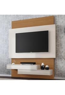 Painel Para Tv Até 49 Polegadas Suspenso 100% Mdf Tb120 Off White/Freijo - Dalla Costa