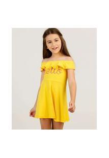 Vestido Infantil Ciganinha Babado Tam 4 A 10