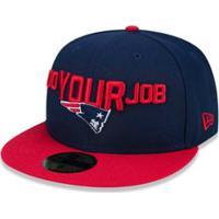 Boné 5950 New England Patriots Nfl Aba Reta New Era - Masculino-Azul 9a6e22148cd