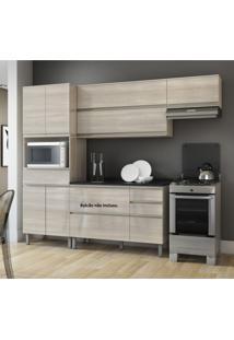 Cozinha Compacta 3 Peças Sem Balcão Belíssima Plus Itatiaia Não Acompanha Balcão Saara Wood/Saara Wood Cetin