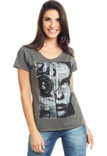 Camiseta Bossa Brasil Photo Preto Estonado