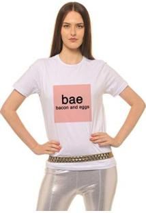 Camiseta Joss Estampada Bae Feminina - Feminino-Branco