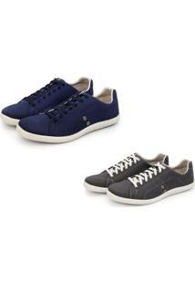 Kit 2 Pares De Sapatênis Casual Trivalle Shoes Cinza