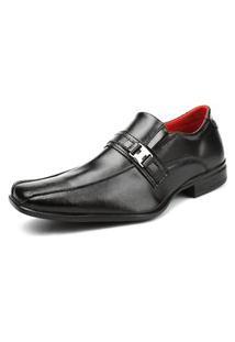 Sapato Masculino Social Preto Fashion Shoe Verniz Sem Cadarço Life Rock