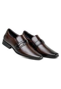 Sapato Café Social Masculino Confortável Calce Fácil Estiloso