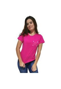 Camiseta Feminina Cellos Cross Arrows Premium Rosa