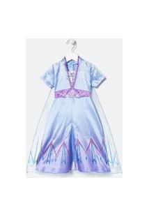 Vestido Infantil Elsa - Tam 5 A 14 | Frozen | Azul | 02