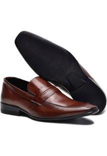 Sapato Social Sender Couro Slim Masculino - Masculino