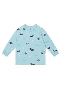 Conjunto Pijama Baleias Misty Onda Marinha Multicolorido
