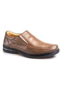 Sapato Couro Rafarillo Masculino Duo Air Conforto Dia A Dia Marrom