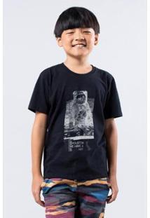 Camiseta Infantil Astro Dj Reserva Mini Masculina - Masculino-Preto