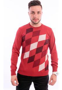 Blusa G'Dom Losangos Vermelha