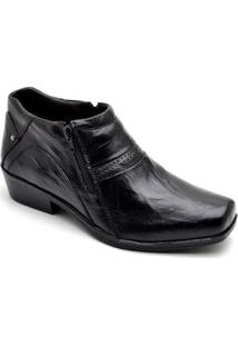 Bota Top Franca Shoes Country Masculino - Masculino-Preto