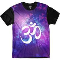 Camiseta Long Beach Ohm Triângulos Sublimada Masculina - Masculino-Roxo +Preto e0188e237b202