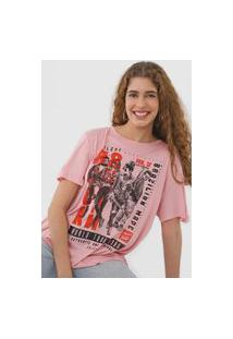 Camiseta Colcci Rock Style Rosa
