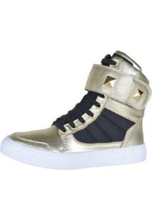 Sneaker Eagle Black Fitness Feminino - Feminino-Dourado