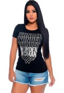 Baby Look Wonder Woman Silver Feminina - Feminino