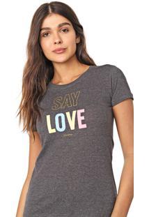 Camiseta Aeropostale Love Grafite