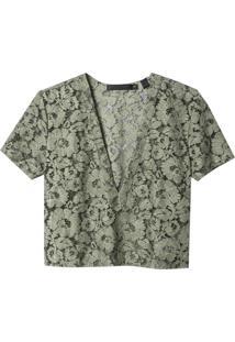 Camiseta John John Waves Verde Militar Feminina (Verde Militar, G)
