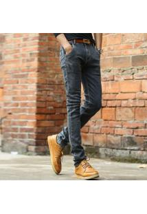 Calça Jeans Masculina Slim - Cinza Escuro