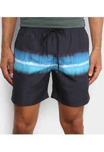 Bermuda Ellus Estampada Masculina - Masculino-Azul