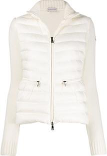 Moncler Funnel Neck Padded Jacket - Branco