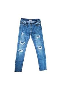 Calça Masculina Infantil Lavagem Jeans Mini Us 16 Azul