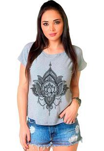 Camiseta Shop225 Flor De Lotus Mescla
